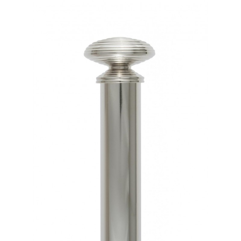 Embout Tube et support 31mm - Accessoires tringles rideaux Auro - Gérency Nickel Poli - Tringle Houles