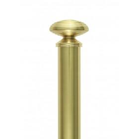 Embout Tube et support 31mm - Accessoires tringles rideaux Auro - Gérency Laiton Poli - Tringle Houles